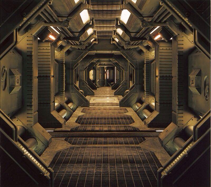 corridor space ship 2 place galactique world int rieur. Black Bedroom Furniture Sets. Home Design Ideas