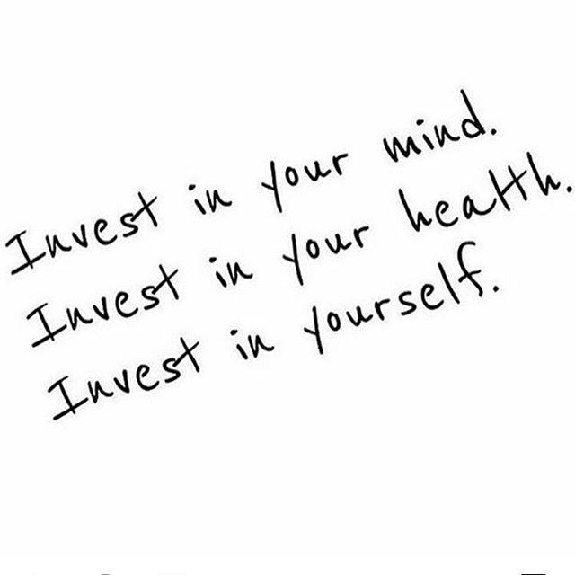 Investoi itseesi!  Mitä parempaa huolta pidät itsestäsi sitä parempaa huolta pystyt pitämään muista .  .  .  .  .  .  #voihyvin #terveys #terve #pidähuoltaitsestäsi #maanantai #uusiviikko #wellness #wellbeing