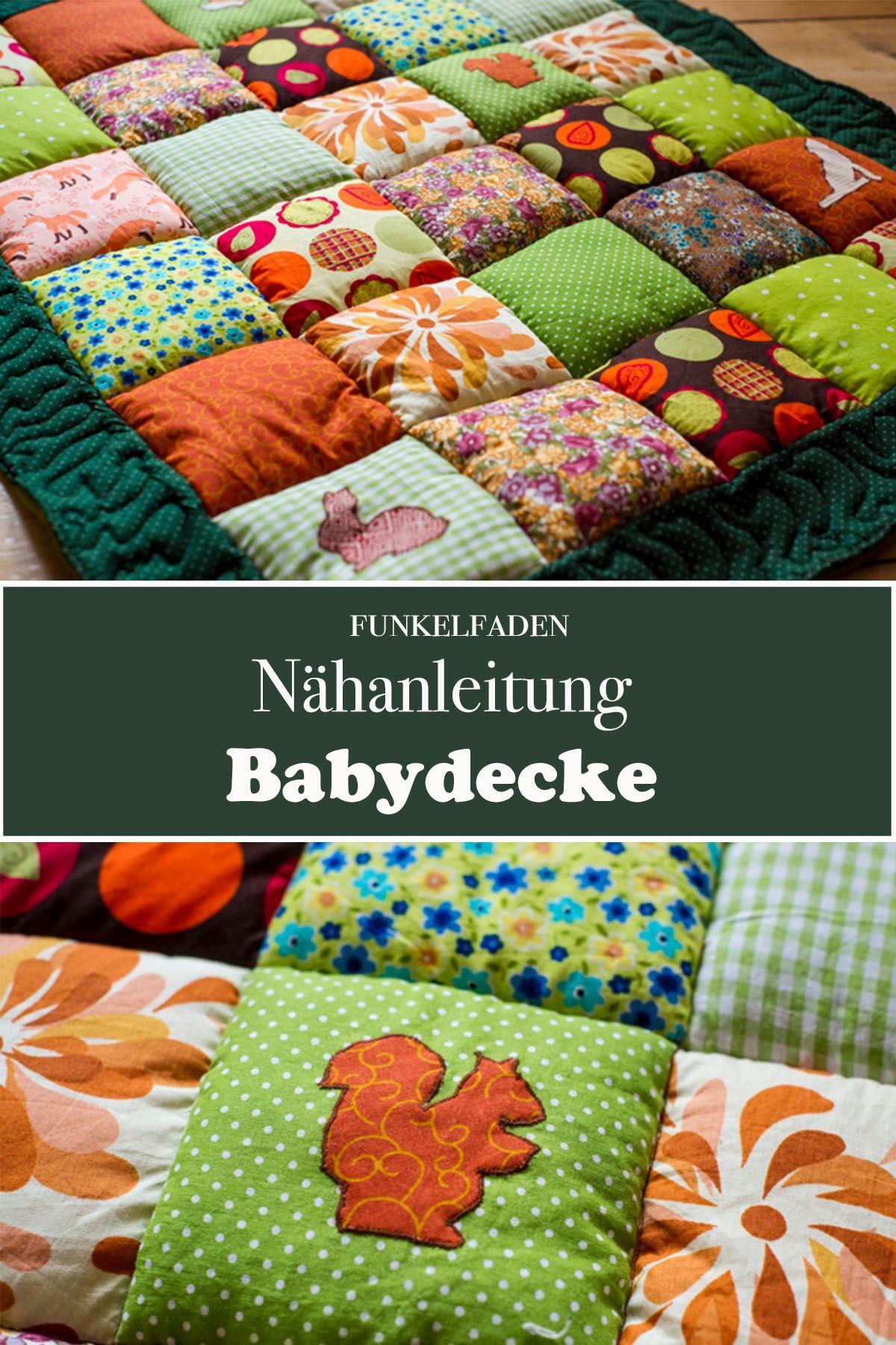 Nähanleitung Babydecke nähen / Patchworkdecke