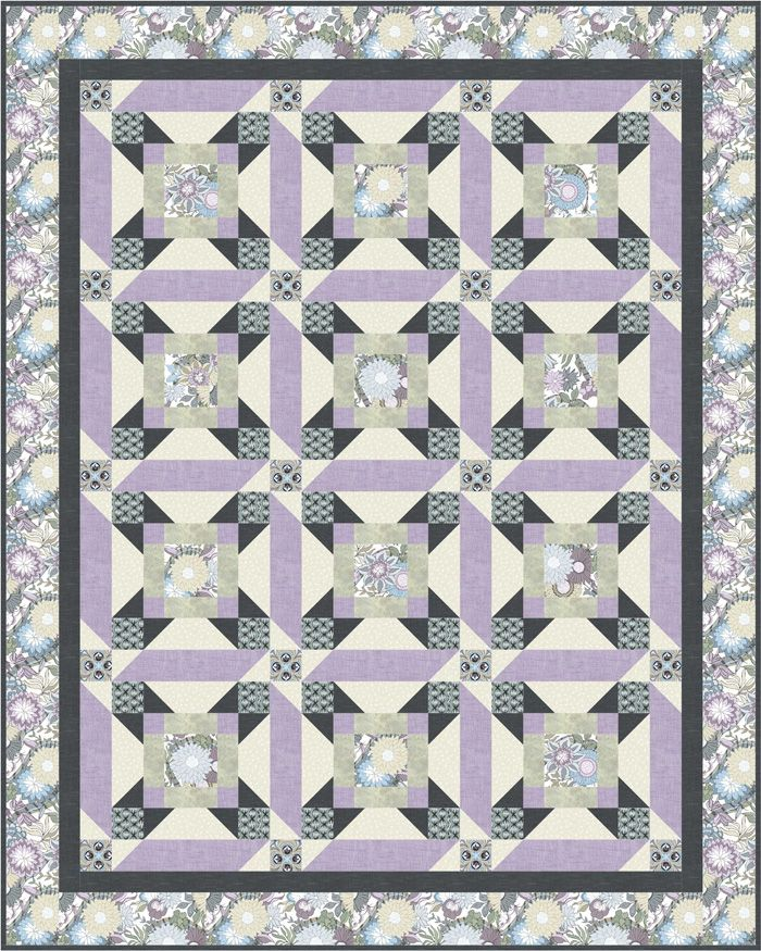 Carnival Quilt Pattern Pieced CH