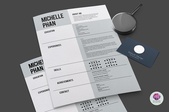 CV template , cover letter template by Chic templates on