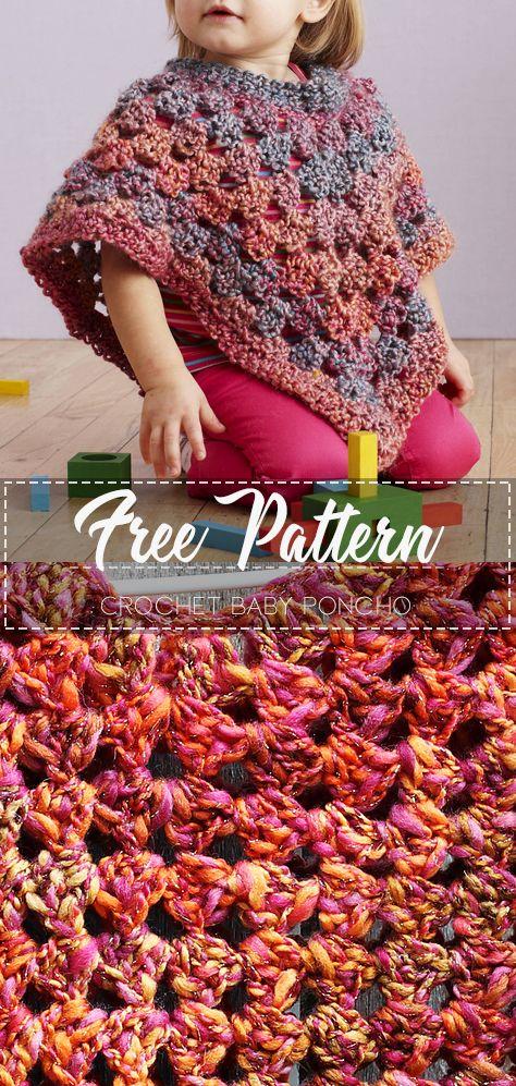 Crochet Baby Poncho – Free Pattern #babyponcho