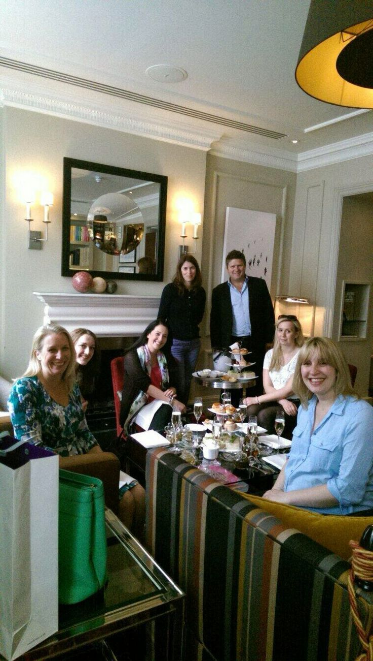 P IS FOR PEOPLE   Prestige is all about people. You and yours, and us too, and our super staff.  (This is the team enjoying afternoon tea)
