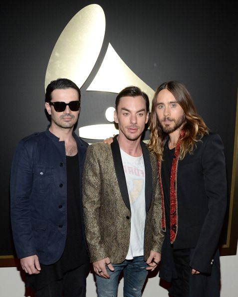Jared Leto With Bandmates At The Grammys Grooming By Jamie Taylor