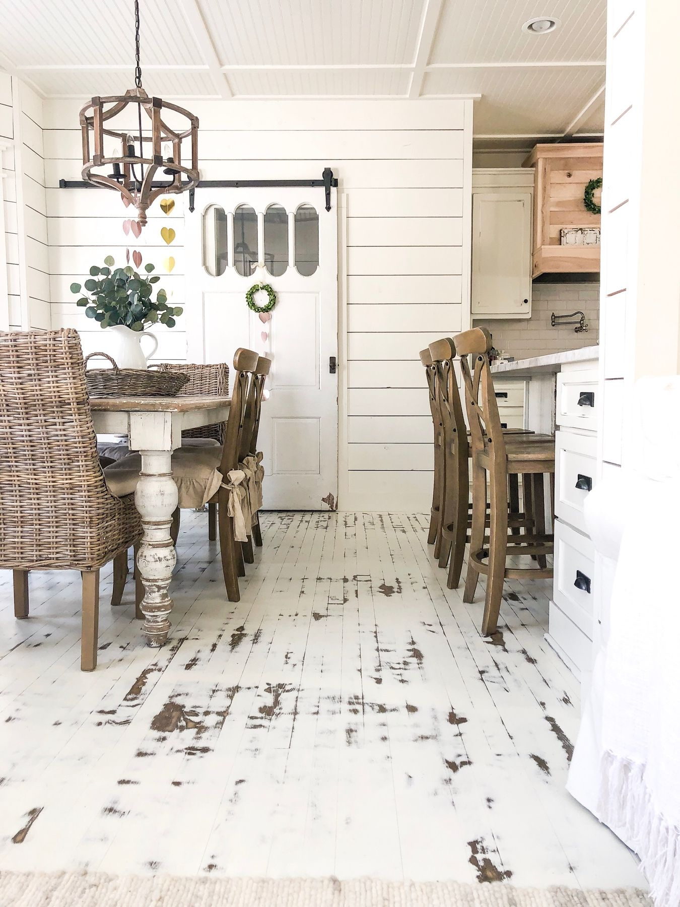 Paint And Distress Your Floors Rustic Wood Floors Diy Wood