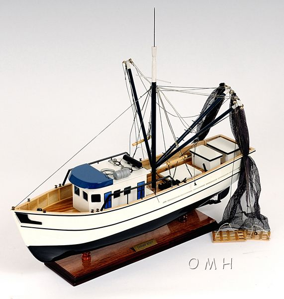 Authentic Shrimp Fishing Boat Model