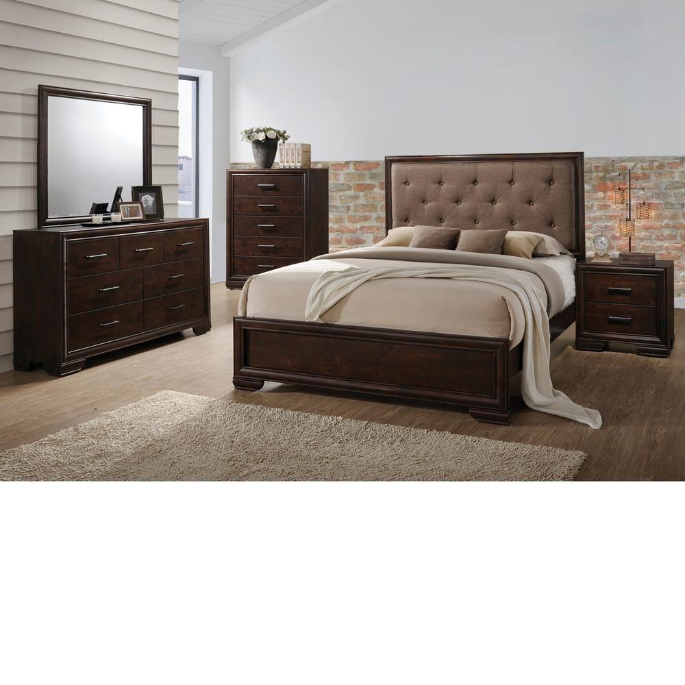 Home Source Industries Home Source Westphal Queen 6 Piece Bed Set