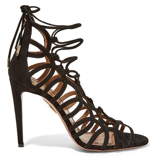 Aquazzura Oh Lala Lace-Up Sandals