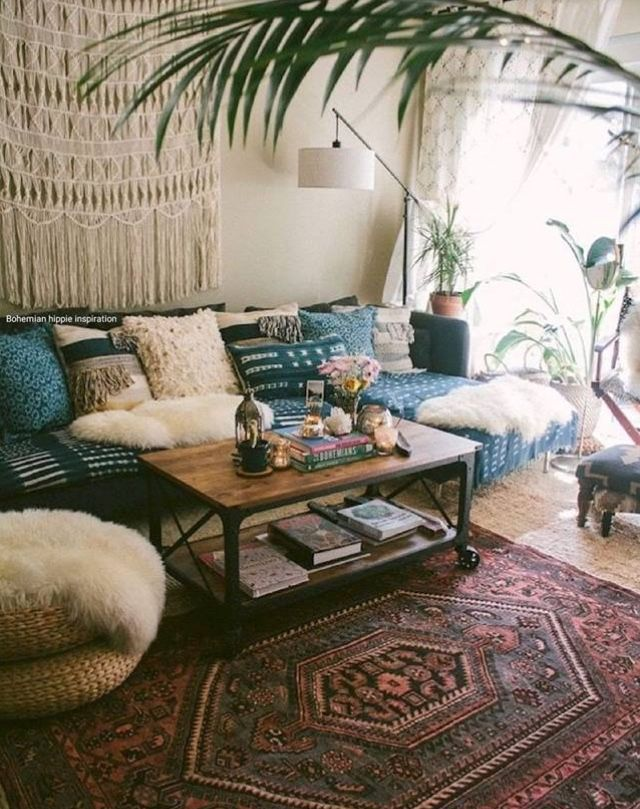Pin By Ashley Mccutcheon On Interiors Bohemian Living Room Decor Modern Bohemian Living Room Small Space Living Room