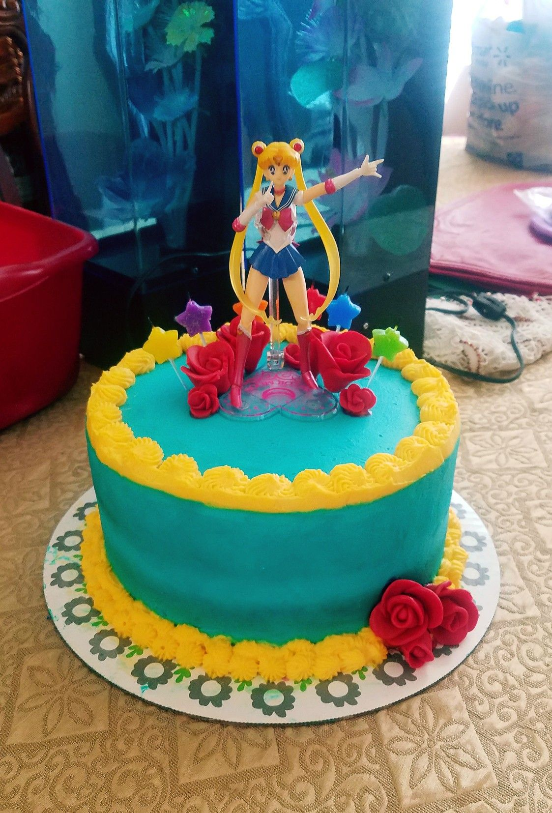 Sailor Moon Cake With Images Sailor Moon Cakes Sailor Moon