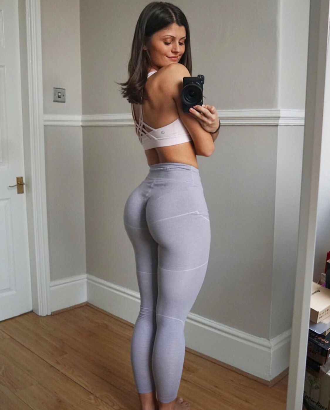 Hot Blonde Teen Yoga Pants
