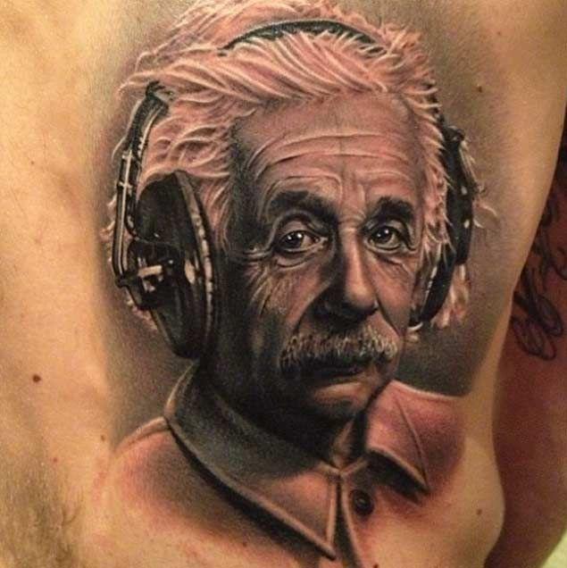 15 Incredible Albert Einstein Tattoos Tatto Idea Tattoos