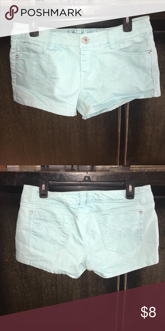 Light blue denim shorts Light blue denim shorts. jcpenney Shorts Jean Shorts #lightblueshorts