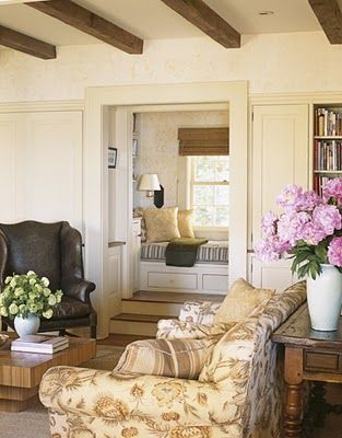 Contrast is key. Wide open spaces coupled with small cozy nooks like this.