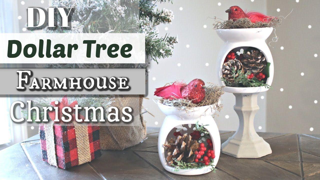Diy dollar tree farmhouse christmas decor dollar tree
