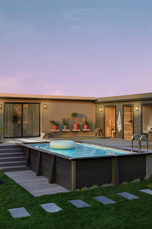 Decouvrez Nos Idees Pour L Exterieur Small Backyard Pools Backyard Pool Swimming Pools Backyard