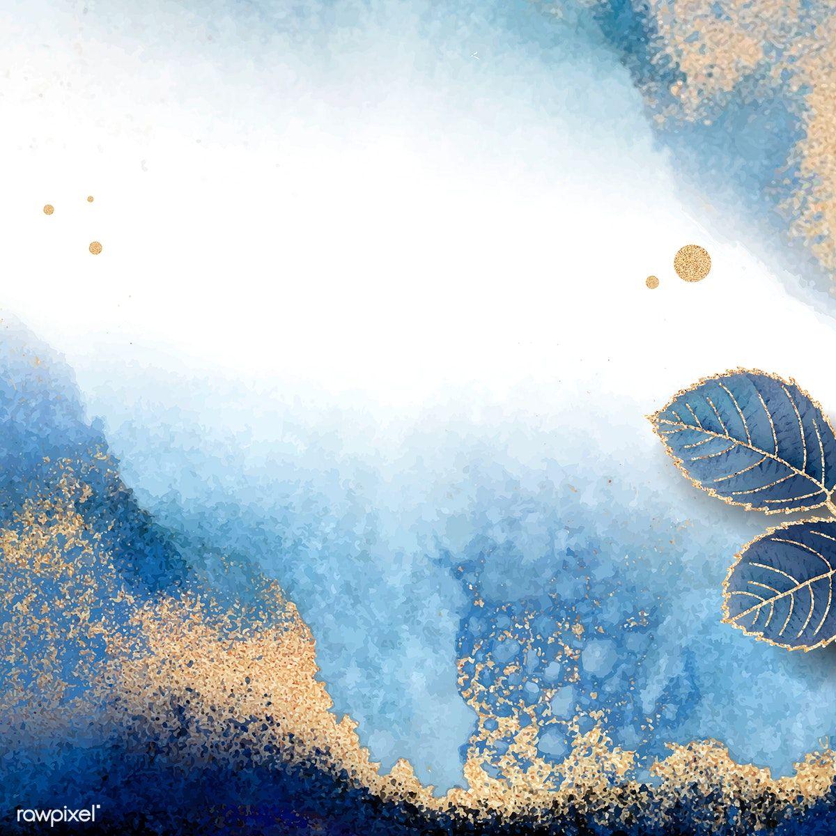 Blank Leafy Blue Frame Vector Premium Image By Rawpixel Com Adj Blue Frames Gold Wallpaper Background Watercolor Background