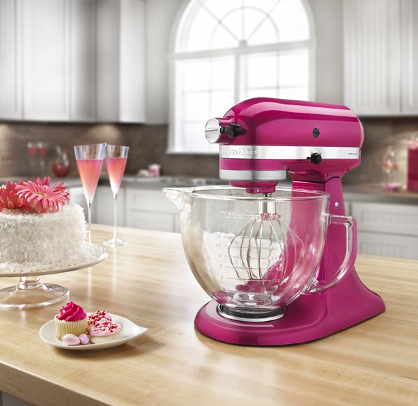 Product Review // KitchenAid Platinum Stand Mixer Raspberry Ice | Kaleidoscope Blog