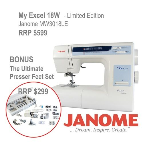 Janome My Excel 40W Sewing Machine The Ultimate Feet Set Sewing Interesting Ultimate Sewing Machine