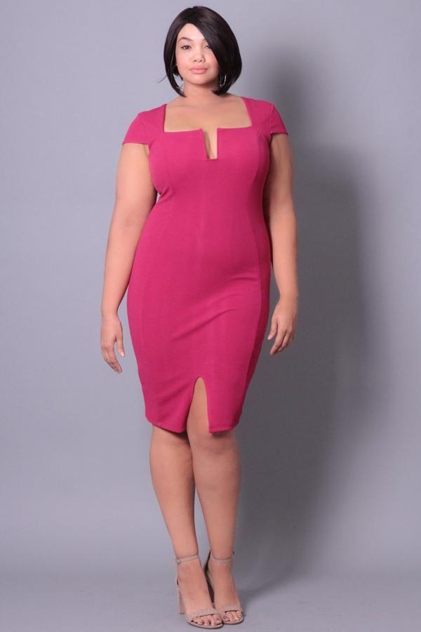 Plus Size She Drives Me Crazy Dress Fuschia Curvysense