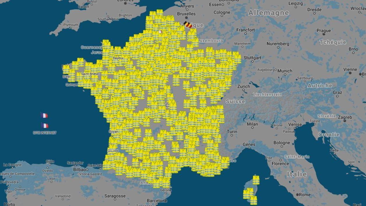Gilets Jaunes La Carte De Tous Les Blocages Prevus Le 17