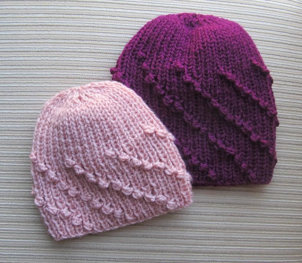 Hat in Diagonal Bobble Rib | Knitted hat, Knitted hat patterns and ...