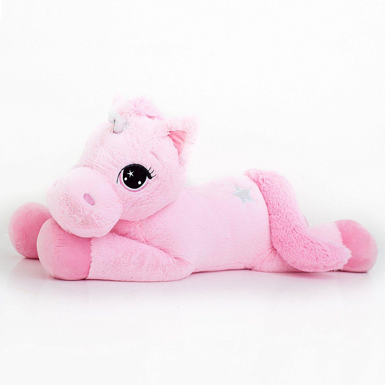 Amazon Com Best Made Toys Jumbo Plush Animal Large 47 Unicorn Stuffed Animal Light Pink Plush With Dark Unicorn Stuffed Animal Unicorn Plush Unicorn Toys [ 1500 x 1500 Pixel ]
