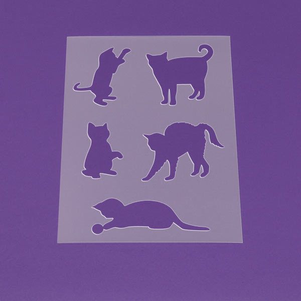 Schablone A3 Katzen Set Mieze Kätzchen   LT47 | Diy design