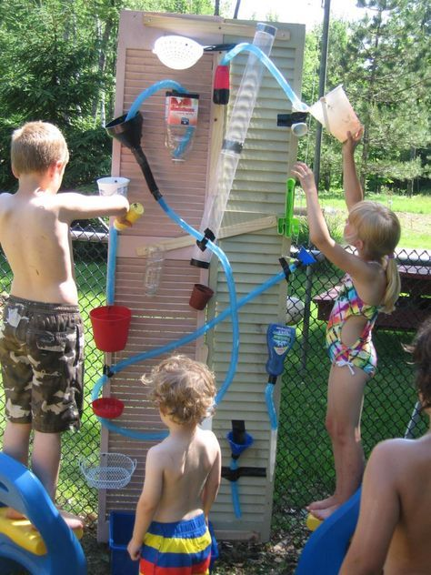 water wall diy wasserspiele f r kinder garten pinterest kinder spiele und spiele mit wasser. Black Bedroom Furniture Sets. Home Design Ideas