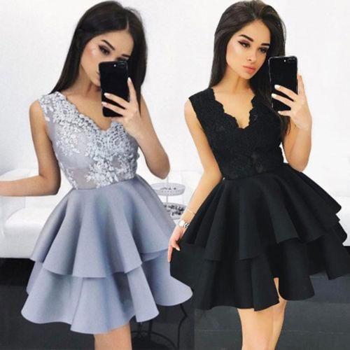 63d1dfbd3b Fashion Women Lace Tutu Summer Sleeveless Mini Dress Club Party Evening  Ball Gown Formal Prom Princess Princess Dress Sundresses