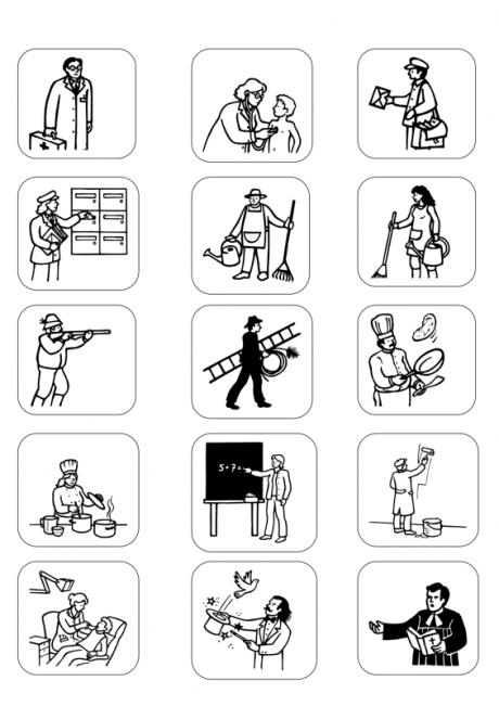 berufe als bild f r memory oder eigene arbeitsbl tter diverses deutsch lernen. Black Bedroom Furniture Sets. Home Design Ideas