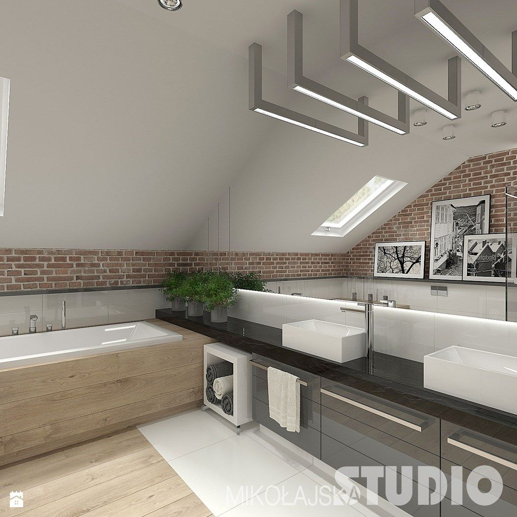 Łazienka w stylu skandynawskim - zdjęcie od ...