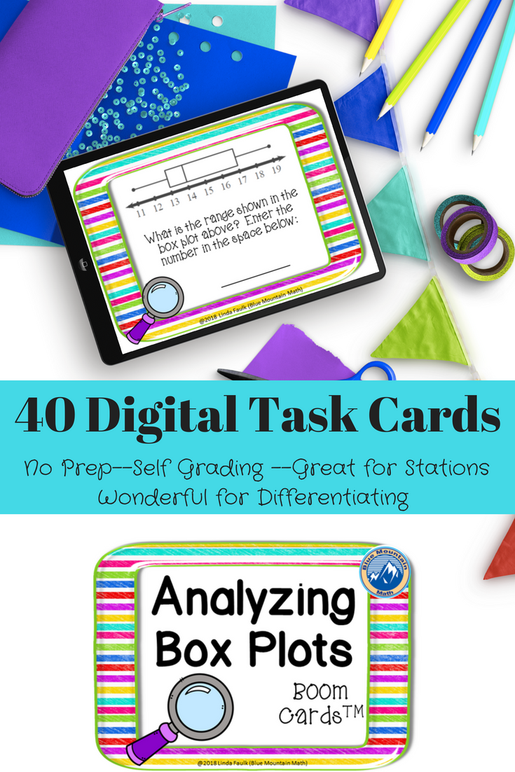 Analyzing Box Plots Boom Cards Digital Task Cards Task Cards Digital Task Cards Algebra Projects [ 1102 x 735 Pixel ]
