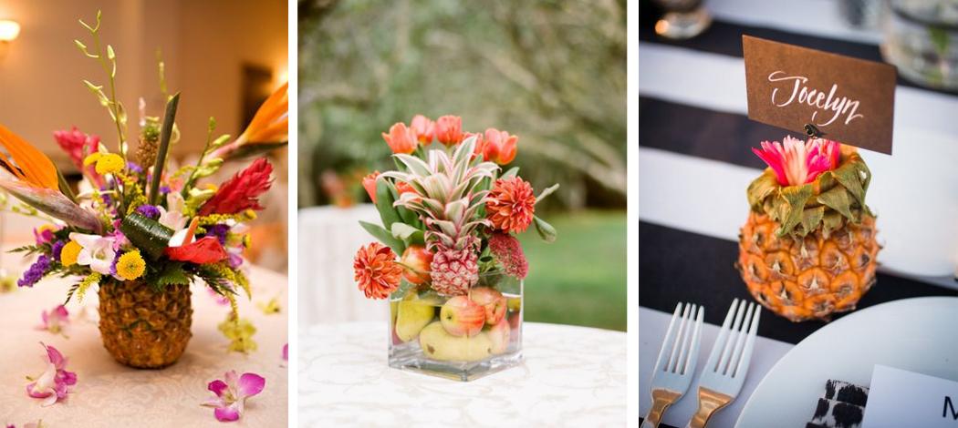 centre de table tropical ananas tropicool party pinterest. Black Bedroom Furniture Sets. Home Design Ideas