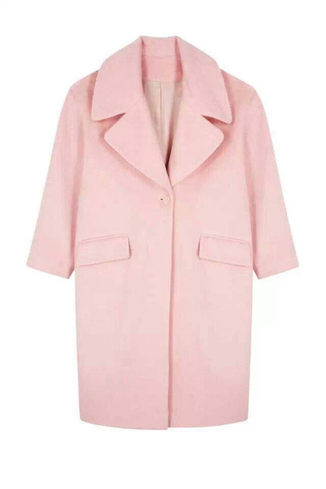 Abrigo rosa candy para el invierno