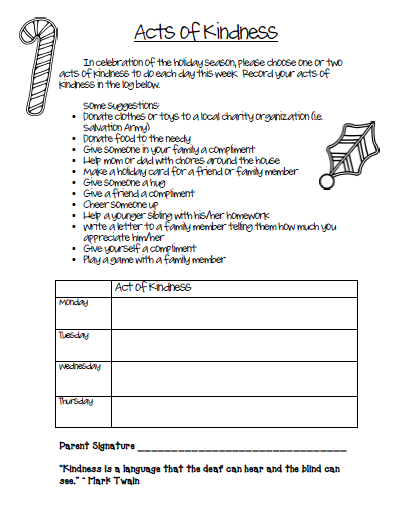 FREE Acts of Kindness Worksheet | Teaching kindness ...