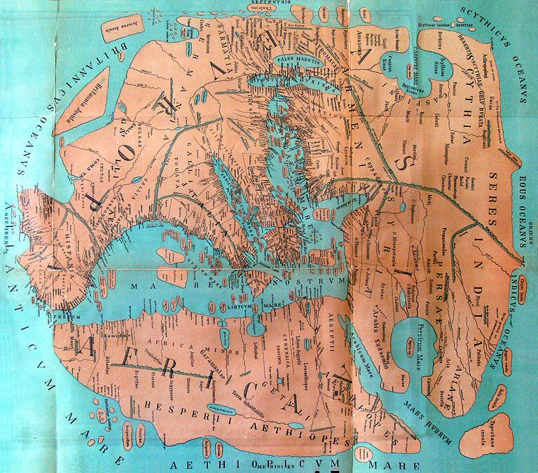 Map of the world from 1st century AD Rome. Could be used as