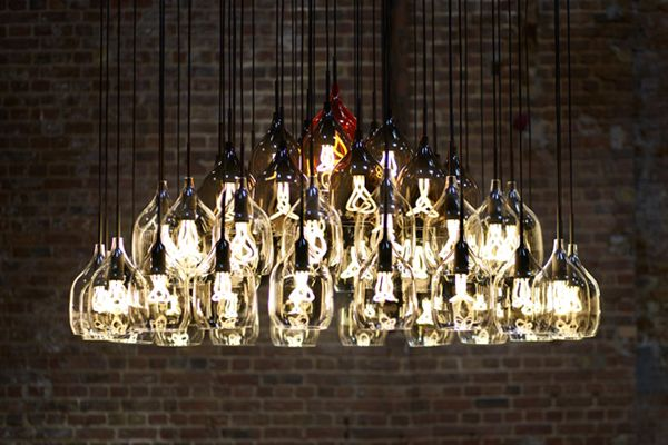 BRC's Halide Chandelier Transforms 28 Disused Lightbulbs