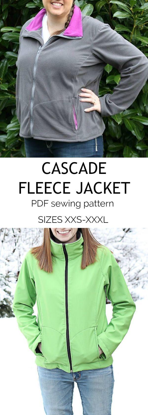 Cascade fleece jacket sew cute pinterest jacket pattern