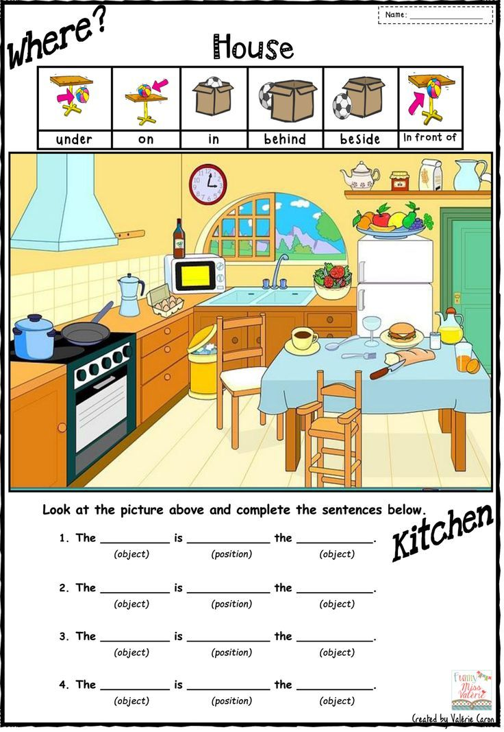 math worksheet : preposition of place worksheets for kindergarten ...