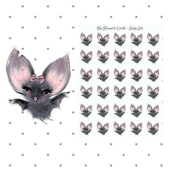 Adver Baby Bat Planner Stickers Kawaii Mini