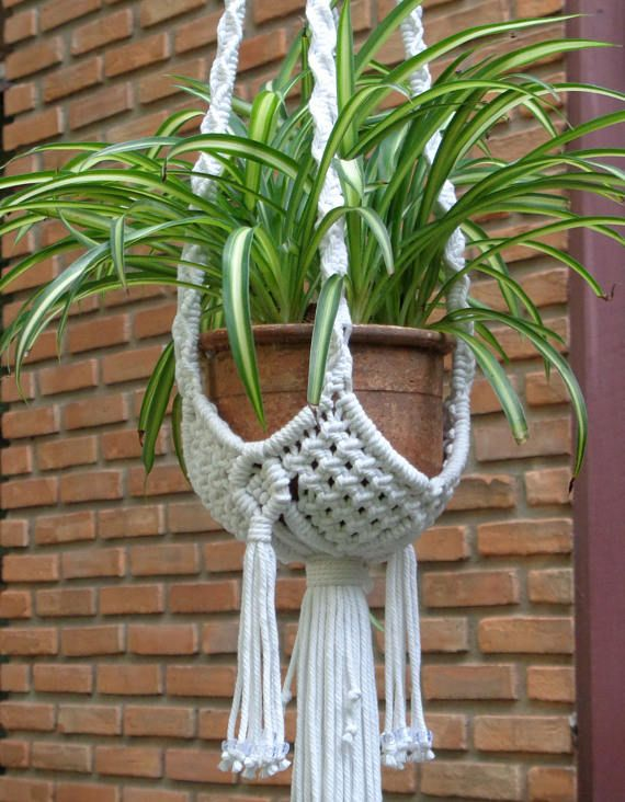 macrame plant hanger basket 2 makramee pinterest blumenampel schnur und strahlen. Black Bedroom Furniture Sets. Home Design Ideas