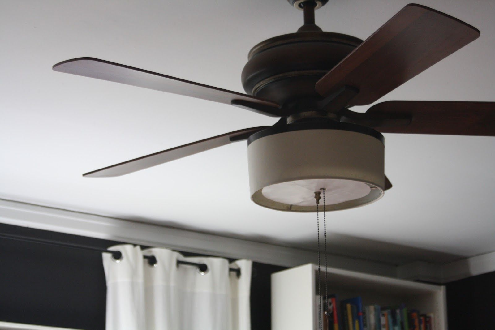 Diy Drum Shade Attached To Ceiling Fan Diy Lamp Makeover Ceiling Fan