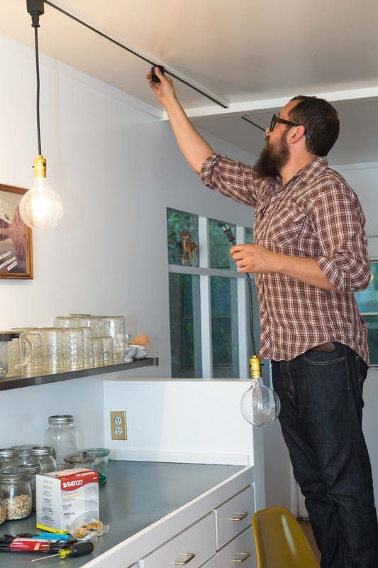 Say Goodbye To Dated Track Lighting With This Easy Clever