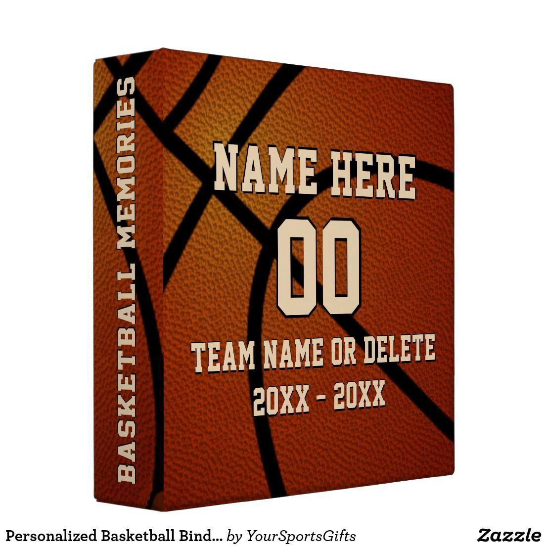 Personalized Basketball Binder, Memories Or Card 3 Ring