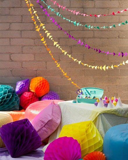 fabriquer décoration avec toile de tente