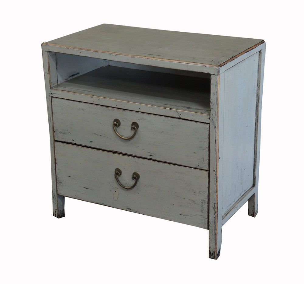 Exceptional Hand Painted Gray Small Cabinet Night Stand From Terra Nova Furniture Los  Angeles By TerraNovaLA On