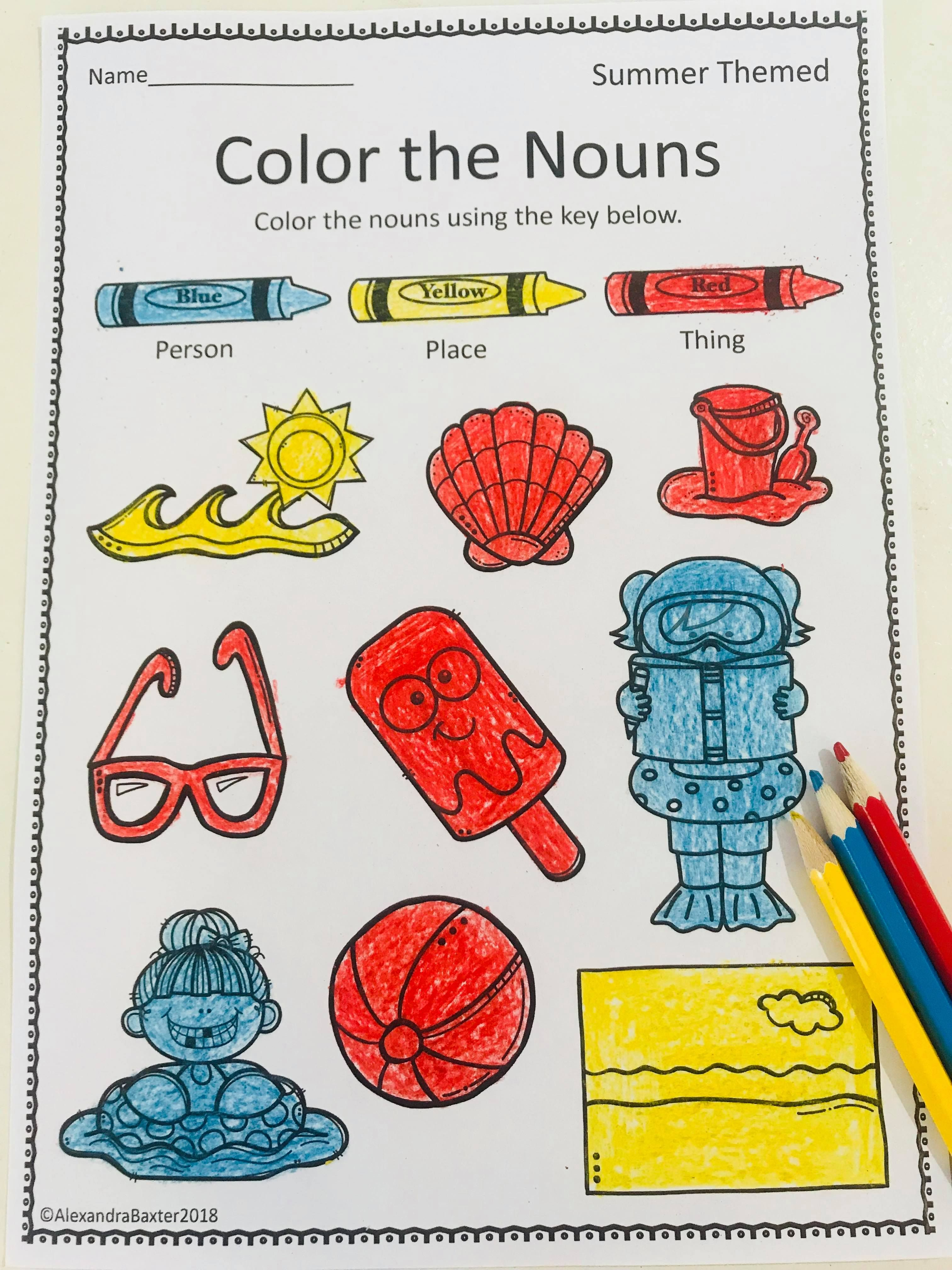 Nouns And Verbs Worksheets Grammar Parts Of Speech