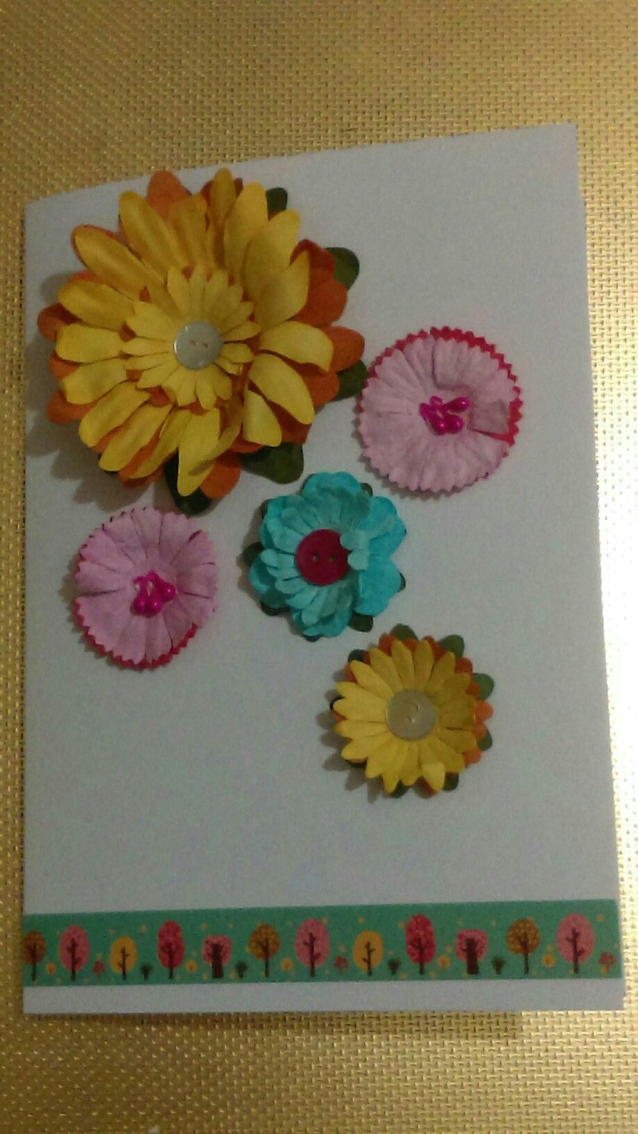 Paper flowers card food n crafts pinterest flowers and foods