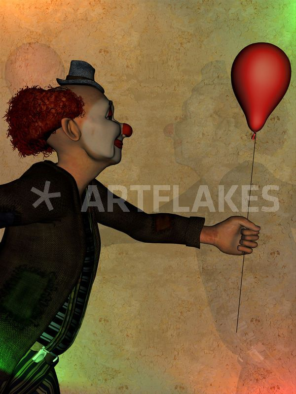 Clown - as Canvas Print, Framed Print and more.